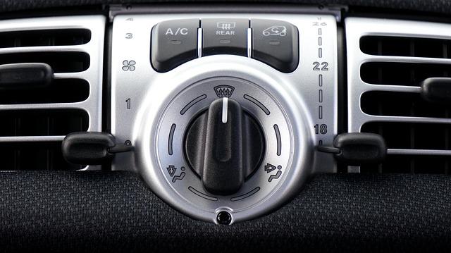 панель управления системой охлаждения автомобиля